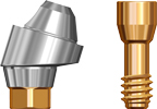 Picture of Angled Abutment Multi Unit, Max DP, 3.5mm 17 degree, includes abutment screw option for Multi Unit Abutments RP Platform product (BlueSkyBio.com)