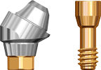 Picture of Angled Abutment Multi Unit, Max DP, 3.5mm 30 degree, includes abutment screw option for Multi Unit Abutments RP Platform product (BlueSkyBio.com)