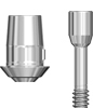 Picture of Titanium Base Abutment for temporary abutment - non engaging, Narrow (includes abutment screw) option for Temporary Abutment Narrow Platform product (BlueSkyBio.com)