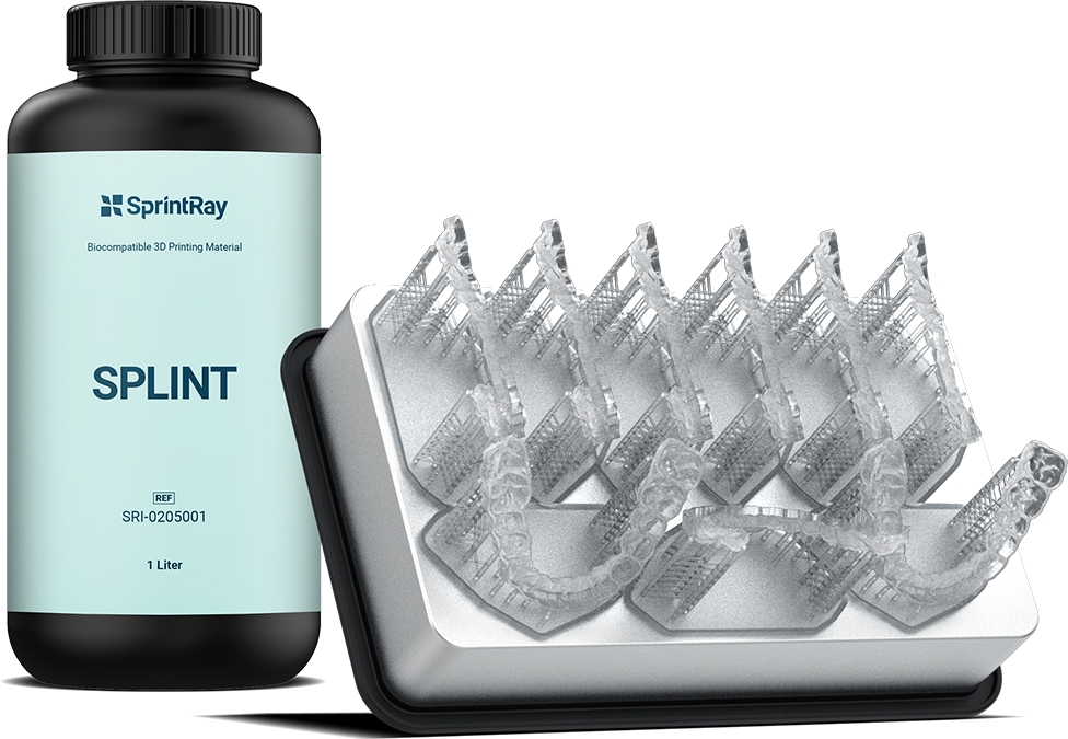 Picture of Splint - Mouth Guard Resin option for SprintRay Materials product (BlueSkyBio.com)